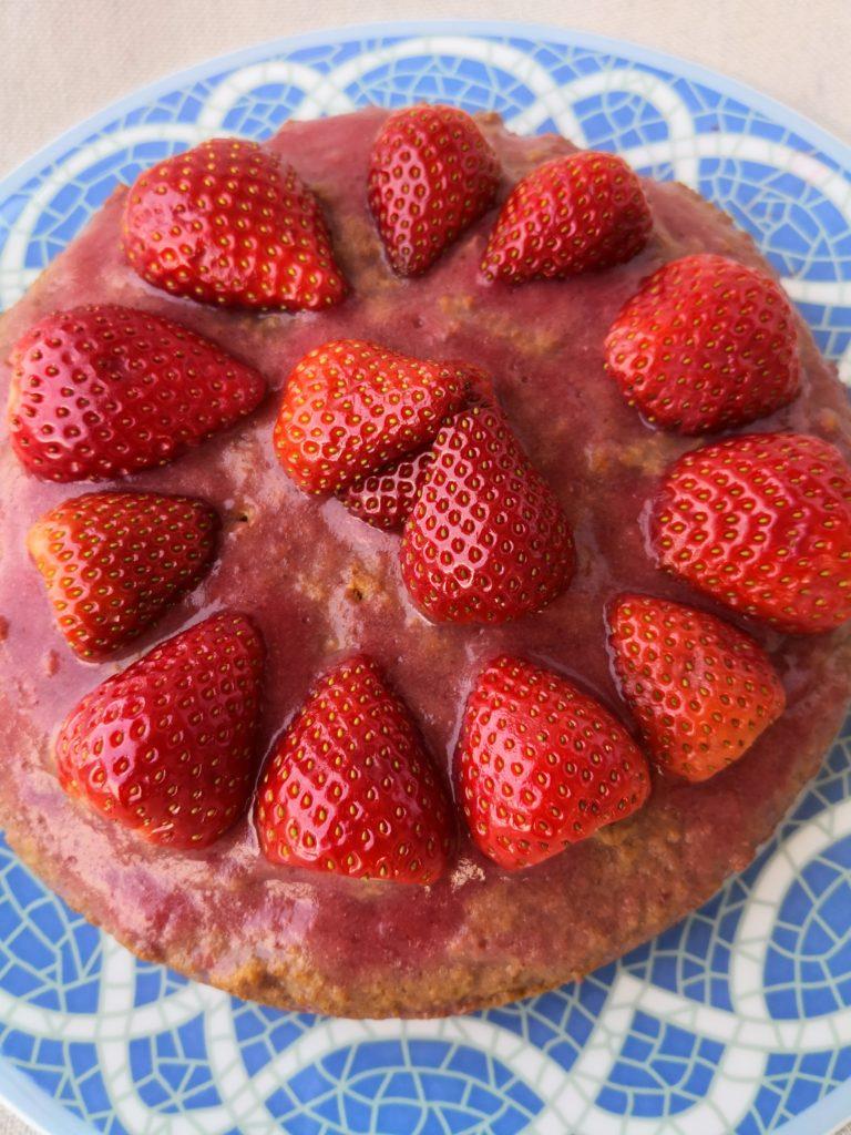 Carrot Cake con mermelada de fresas probiótica