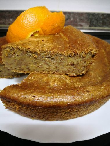 orange cake vegana