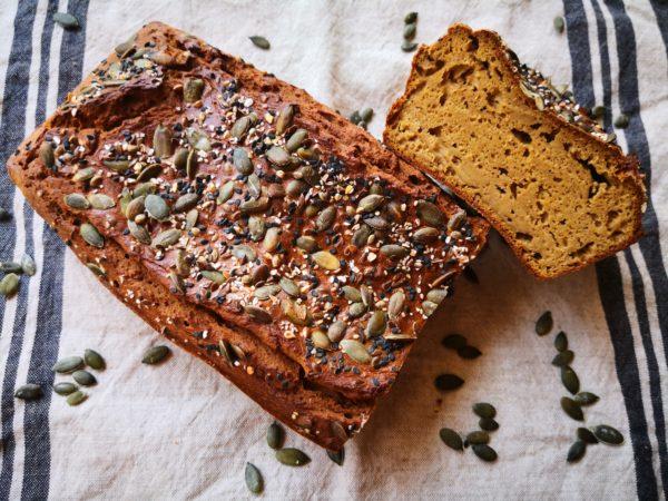 pan de calabaza prebiotico y sin gluten